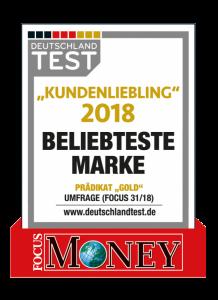 lasik germany<sup>®</sup> holt auch 2018 Gold und ist damit die beliebteste Marke